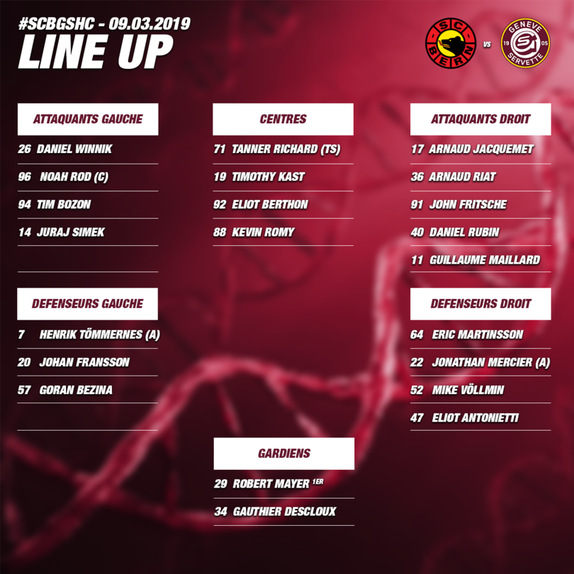 Line up SCB vs GSHC - ACTE I