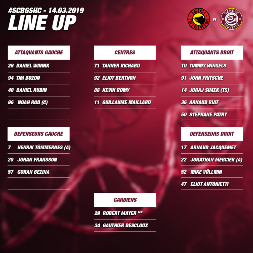 Line up SCB vs GSHC - Acte III