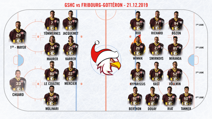 GSHC vs FG - Line up